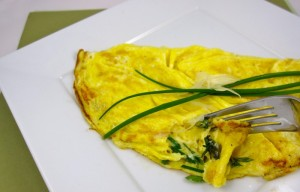 Cheese Omelet with Spring Herbs